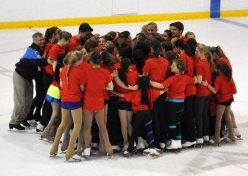Photo of Super Campers in a group hug